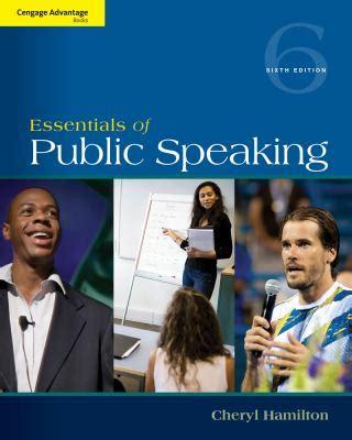 Cengage Advantage Series Essentials Of Public Speaking Cengage Advantage Books
