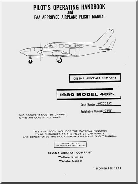 Cessna 402 Airplane Flight Manual