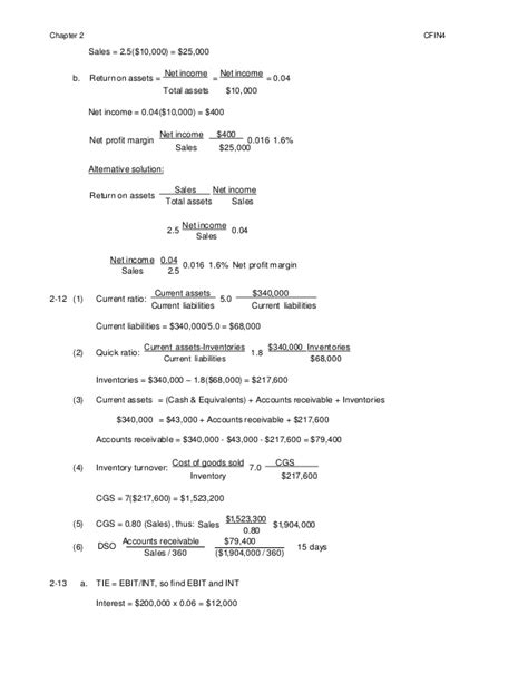 Cfin 3rd Edition Solution Manual