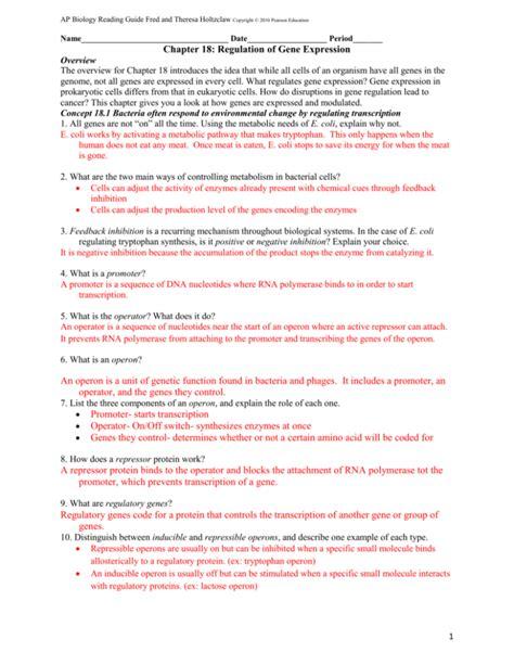 Ch 18 Ap Bio Study Guide Answers