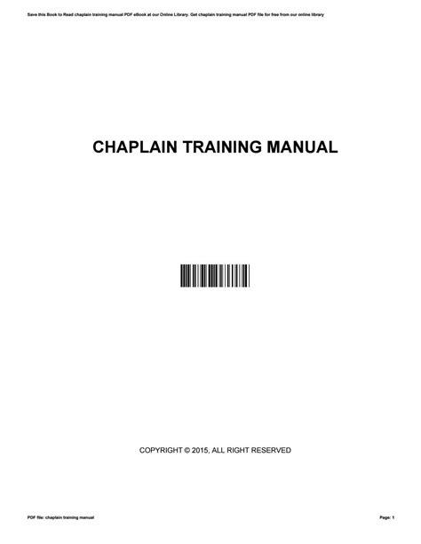 Chaplain Training Manual