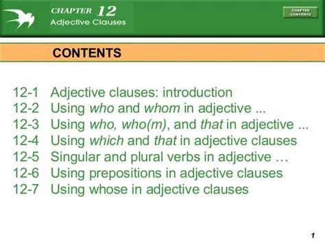 Chapter 12 Adjective Clauses