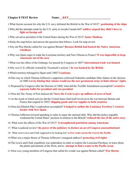 Chapter 12 Unit 3 Answer Key Civil War