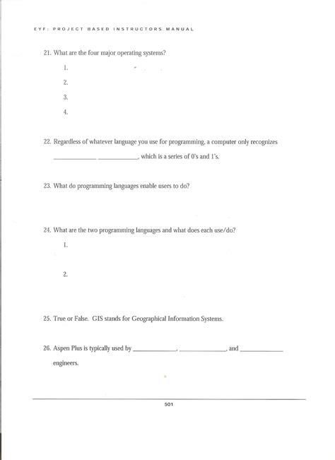 Chapter 17 Worksheet Answer Key