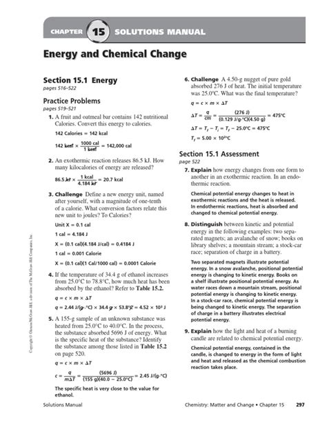 Chapter 4 Solutions Manual Chemistry