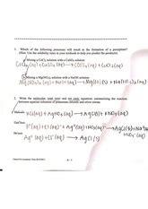 Chemistry 1314 Laboratory Manual Key