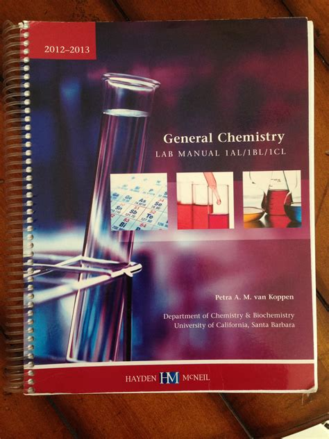 Chemistry Lab 1al Manual Answers Ucsb