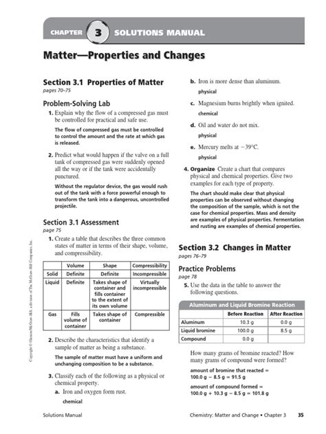 Chemistry Matter And Change Chapter 3 Solution Manual