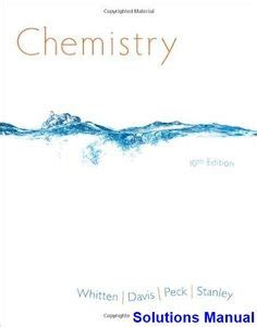 Chemistry Whitten 9th Edition Teacher Solution Manual