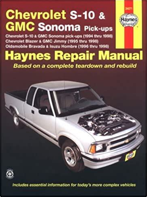 Chevrolet S10 Maintenance Manual