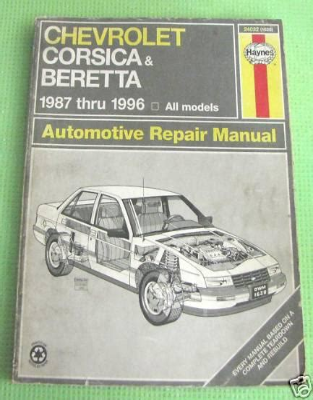 Chevy Corsica Beretta 1987 1990 Service Repair Manual