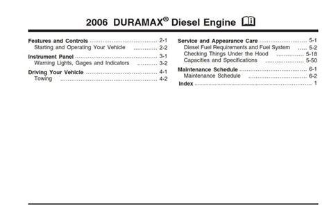 Chevy Duramax Manual