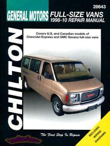 Chilton Repair Manual Savana 2018