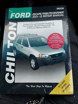 Chilton Total Car Care Ford Escape Tribute Mariner 2001 2012 Repair Manualtribute