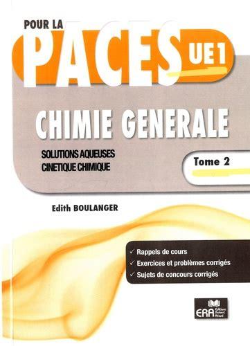 Chimie Generale Tome 2 Solutions Aqueuses Cinetique Chimique