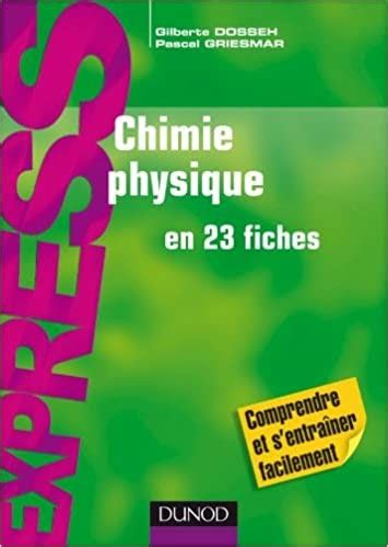 Chimie Physique En 23 Fiches