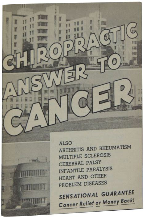 Chiropractic Answer To Cancer