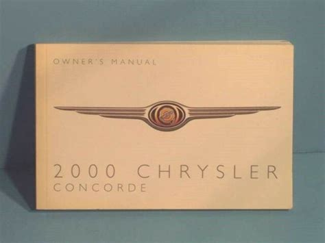 Chrysler Concorde 2000 Owners Manual