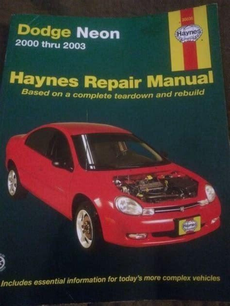 Chrysler Neon Haynes Manual