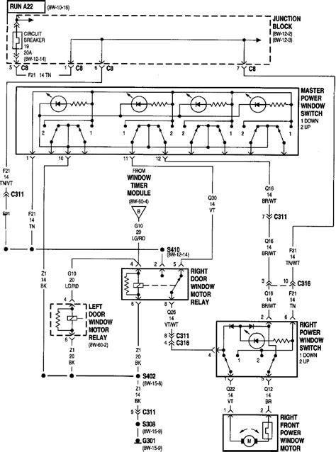 Chrysler Sebring Power Window Wiring Diagram