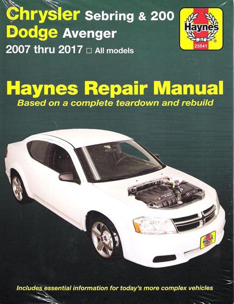 Chrysler Sebring Repair Manual 2017