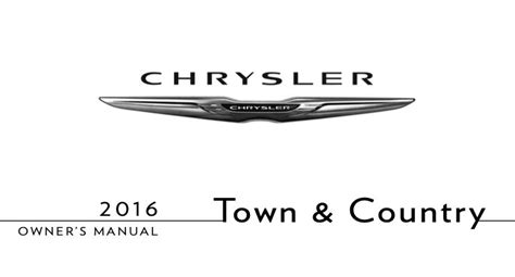 Chrysler Town And Country Navigation System User Manual