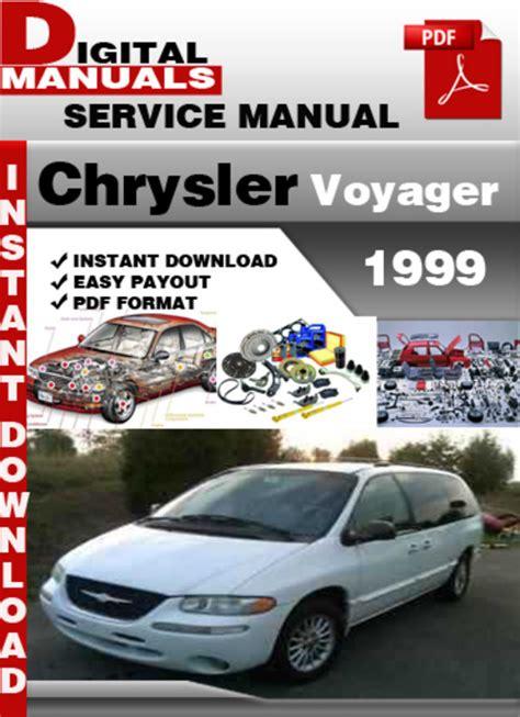 Chrysler Voyager 1999 Owner Manual