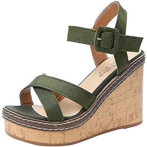 Ciellte Femmes Sandale Plate Forme Tongs Plage Style Boheme Femme Sandales Ete Plates Bohemia Loisirs Sandales Peep Toe Chaussures