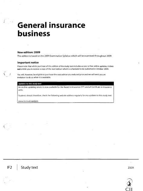 Cii Basic Insurance Manual