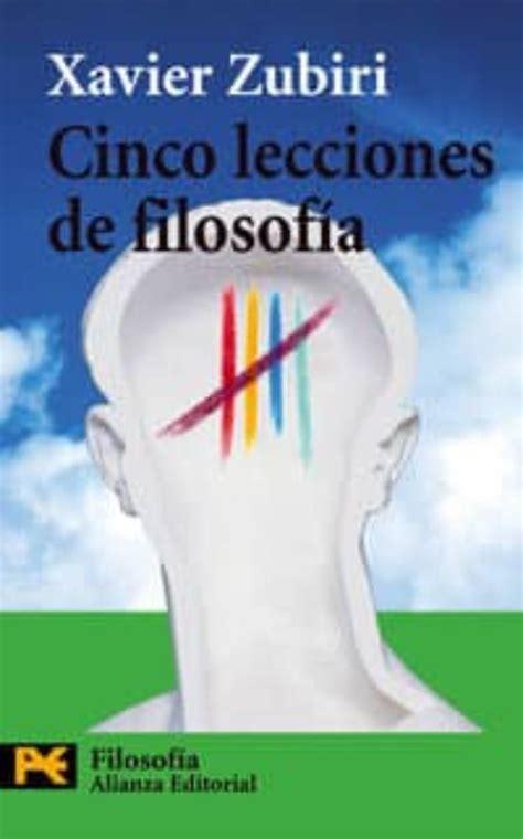 Cinco Lecciones De Filosofia El Libro De Bolsillo Filosofia