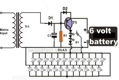 Circuit Diagram Of 6v Emergency Light