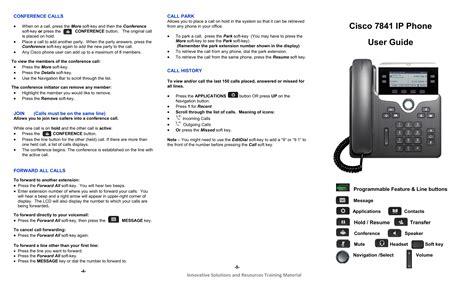 Cisco Telephone User Guide
