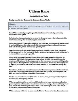 Citizen Kane Study Guide