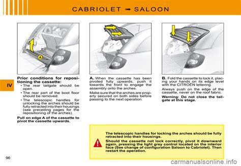 Citroen C3 Pluriel Repair Manual