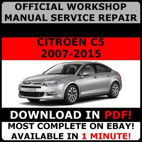 Citroen Service Repair And User Owner Manual C5