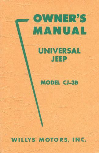 Cj3b Owner Manual
