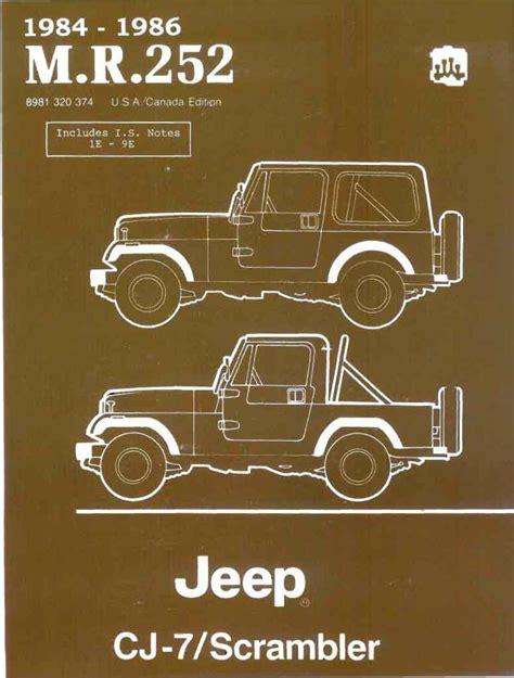 Cj7 Repair Manual