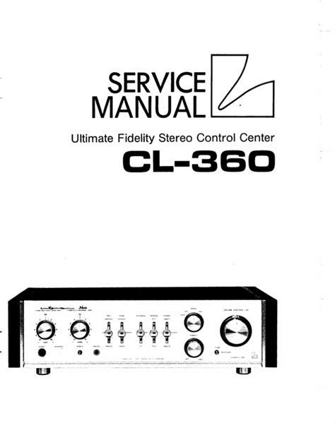 Cl 360 Repair Manual