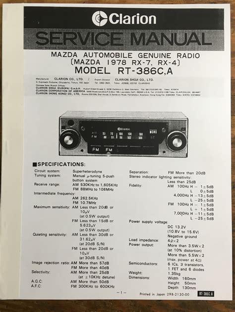 Clarion Radio Manual