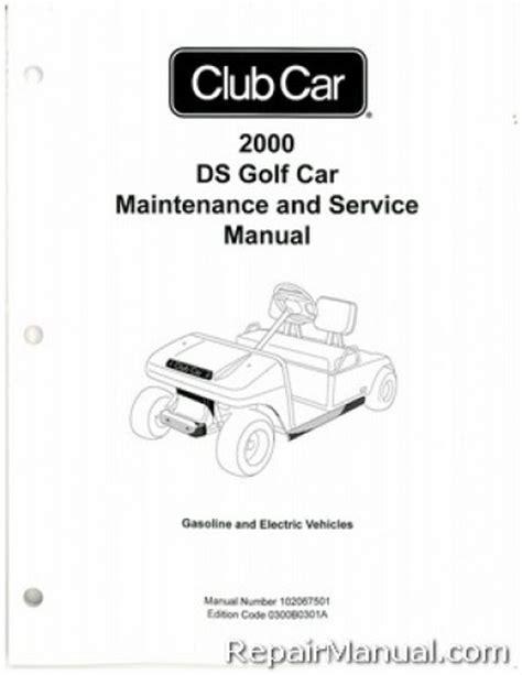 Club Car Ds Gasoline Service Manual 2000