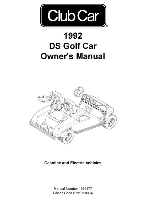 Club Car Manual 1992