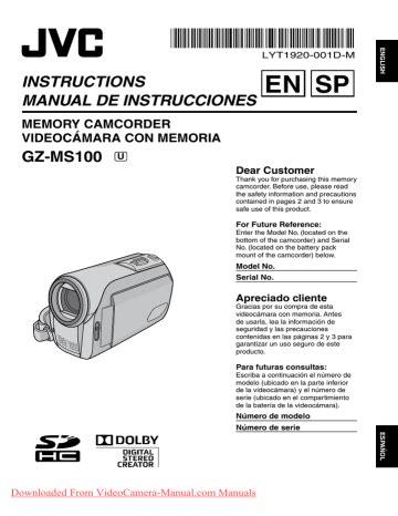 Cobra Camcorders Manual