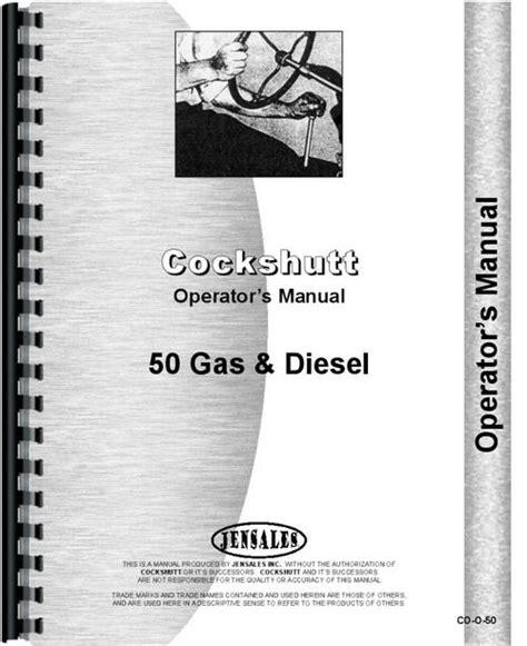 Cockshutt 50 Tractor Operators Manual