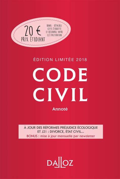 Code Civil 2018 Annote Codes Dalloz Universitaires Et Professionnels