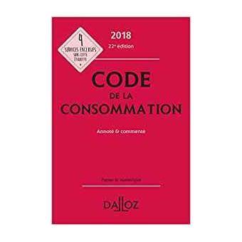 Code De La Consommation Edition 2018