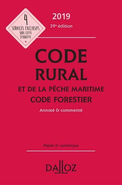 Code Rural et de la Peche Maritime 2019