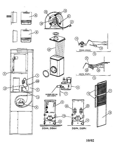 Coleman Downflow Furnace Service Manual Model Dgaa