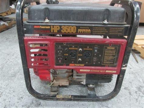 Coleman Powermate Hp 3500 Generator Owner Manual