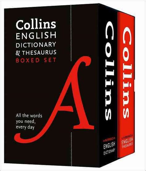 Collins English Dictionary and Thesaurus Slipcase set (Dictionary/Thesaurus)