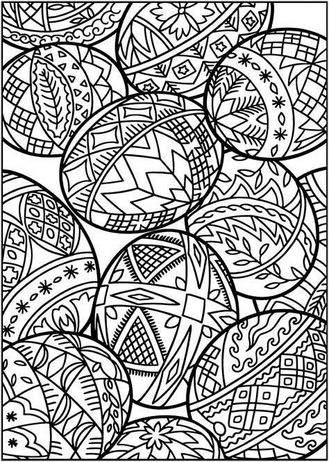 Coloriage 101 Oeufs De Paques 101 Dessins Antistress A Colorier Pour Les Jeunes Et Les Adultes Cocos De Paques